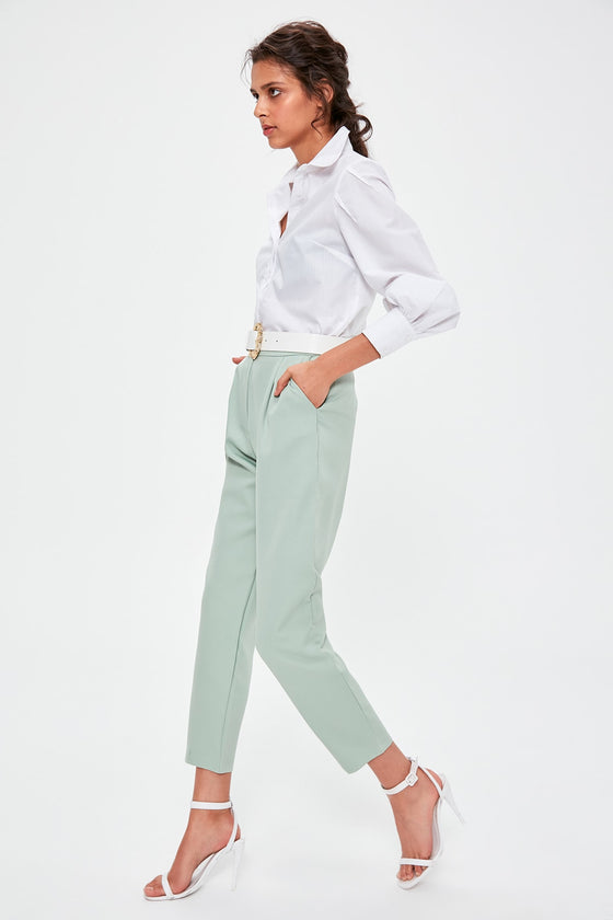Mint High Bel Pants - DiPrié