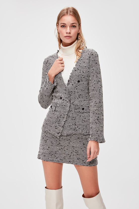 Tweed Knitted Coat - DiPrié