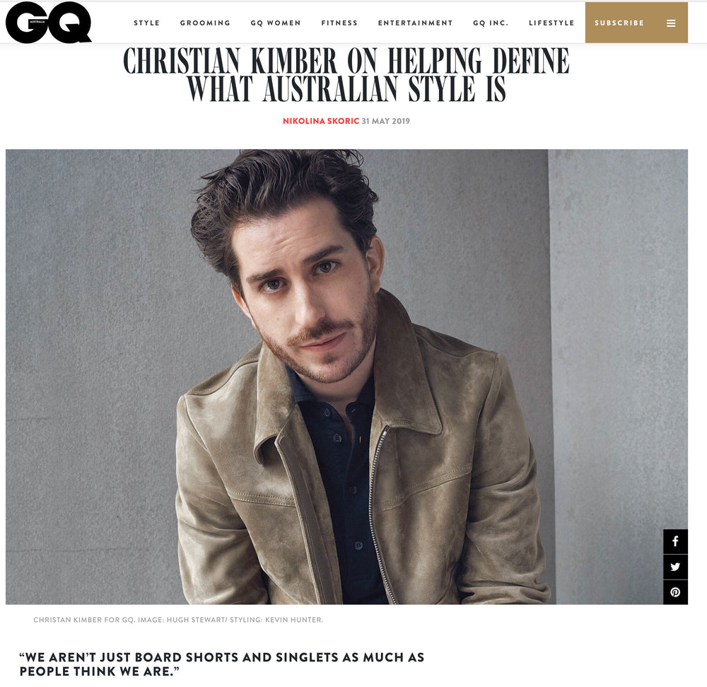 GQ Australia - Christian Kimber On Helping Define What Australian Style Is