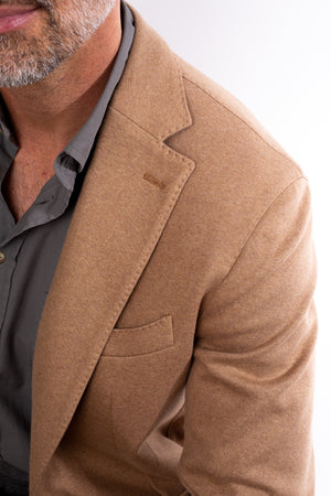 Load image into Gallery viewer, Unstructured Cotton Stretch Blazer - Sand