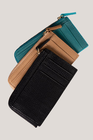 Load image into Gallery viewer, <b>New </b> Zip Wallet - Italian Black Grain