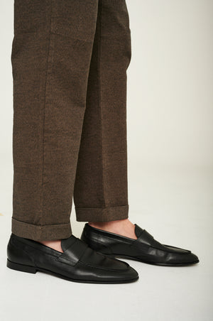 Load image into Gallery viewer, CK iconic Pridham loafer - Black grain