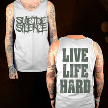 Load image into Gallery viewer, Live Life Hard - AA Silver Tank