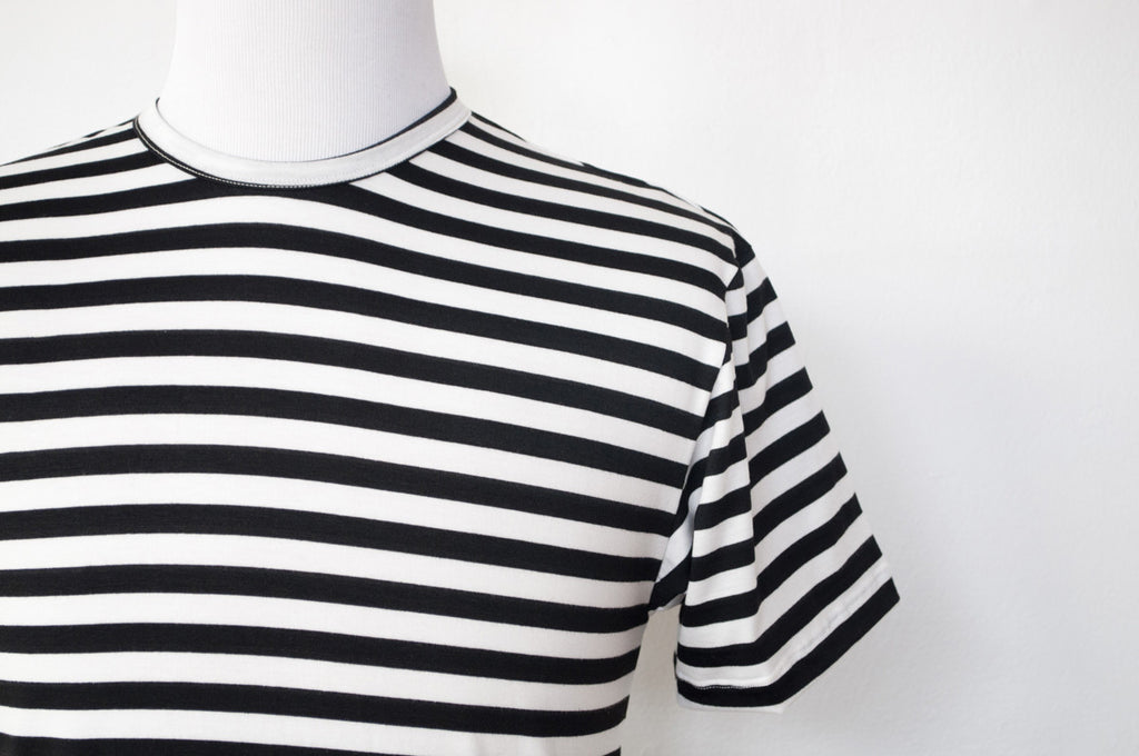 Black + White Stripe
