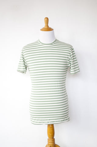 Green + White Stripe