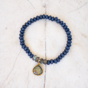 Blue Jade and Labradorite Bracelet