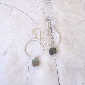 Hoops with Labradorite Earrings