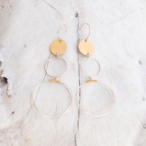 Chaos Hoop Earrings