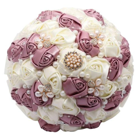 Bouquet Mariage Original Blanc/Marron