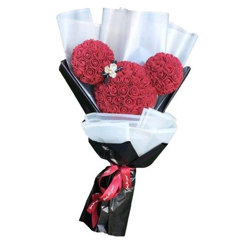 Bouquet de Rose Mickey rouge