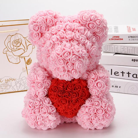 Ours en Rose Artificielle Rose