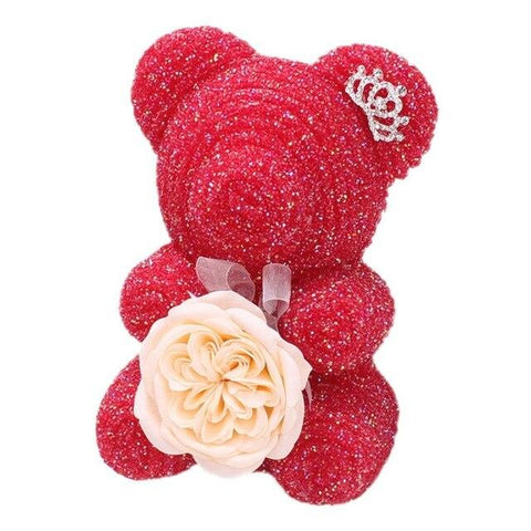 Ours en Rose Saint-Valentin Rouge