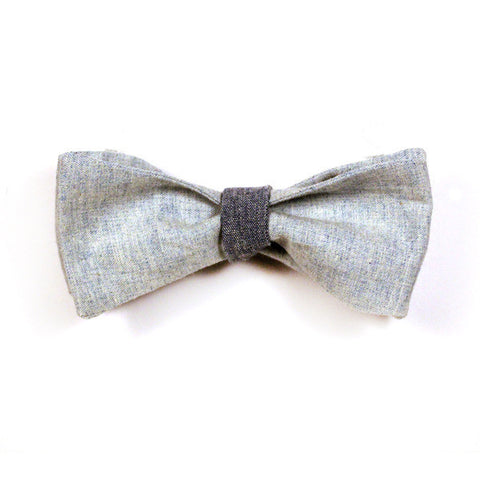 Ryder Bowtie - Blue Chambray