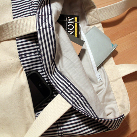 City Slicker Tote- Stripes