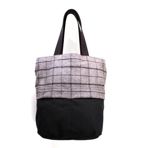City Slicker Tote- Wool Plaid