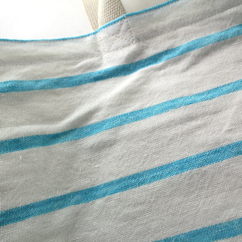 Striped Linen Color Block Tote