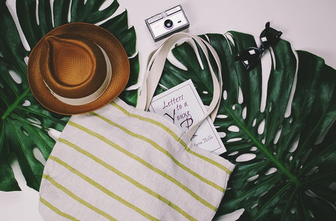 Striped Linen Tote