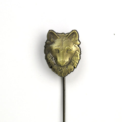 Wolf Stick Lapel Pin