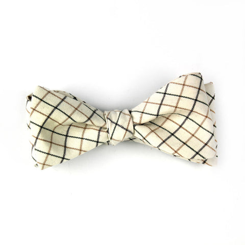 Windowpane Bowtie - Butterfly