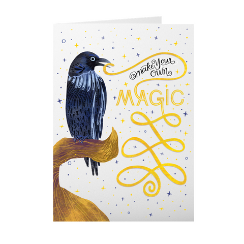 Make Your Own Magic Raven 5X7 Folded Cards