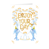 Enjoy Your Day 5X7 Desert Rabbit Folded Cards