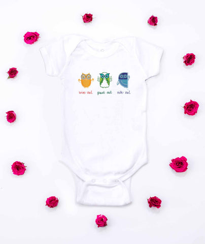 Wise Owl, Great Owl, Night Owl Onesie