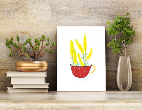 Wall Art Print | Flower Cup of Tea - Prince's Plume | 8.5 X 11 Unframed Print