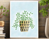 Unframed wall art 8.5 X 11 print | Houseplant inspiration wall art for bedroom, kitchen, bathroom, office.