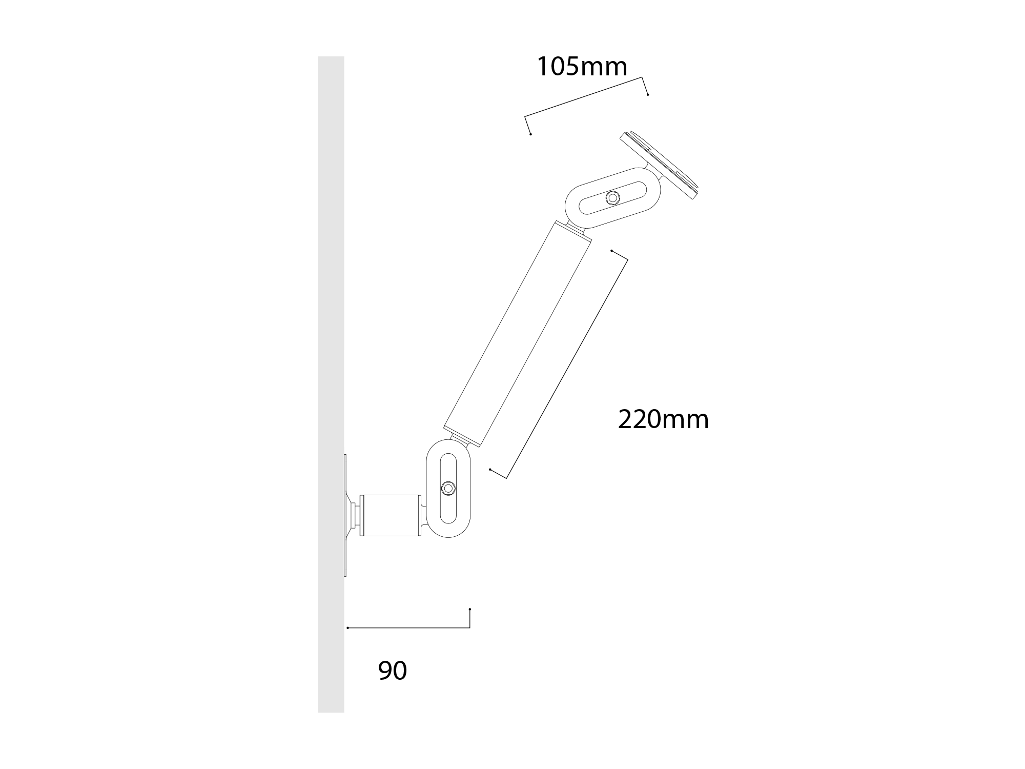 Connect Arm Dimensions Wall