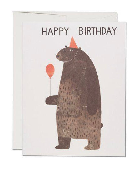 Red Cap Cards - Party Bear