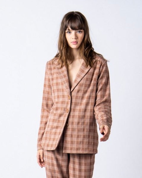 Muted Checker Blazer