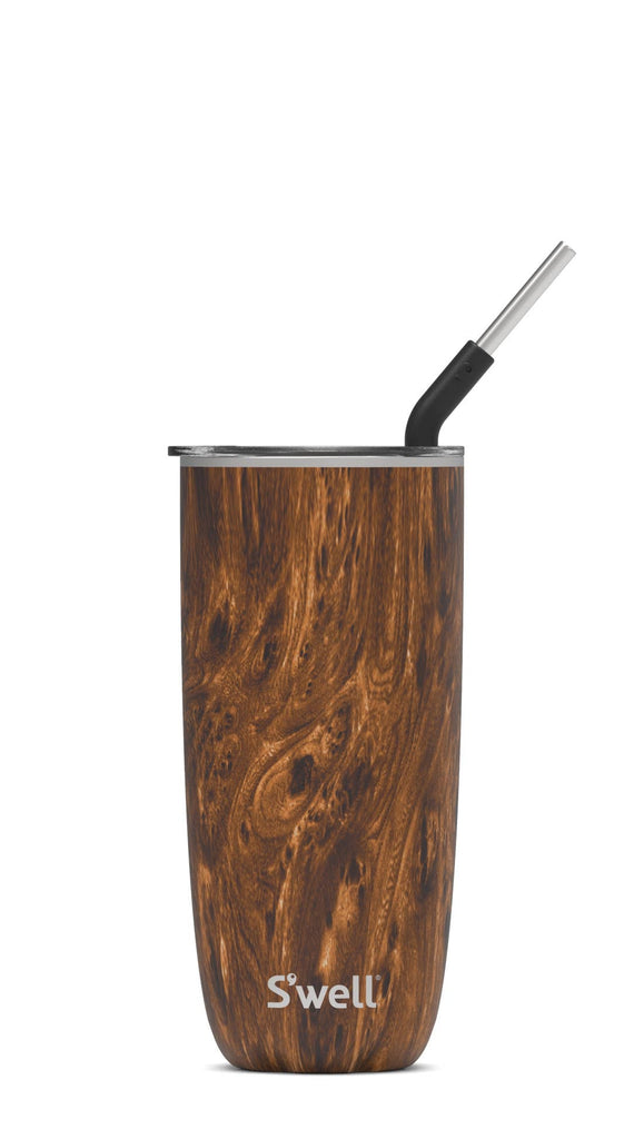 S'well - Stainless Steel Teakwood 24oz Tumbler with Straw
