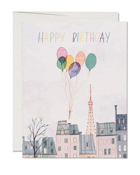 Red Cap Cards - Paris Balloons