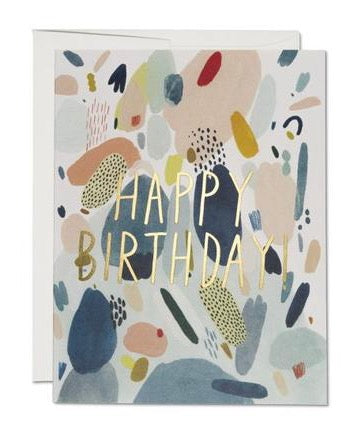 Red Cap Cards - Abstract Birthday