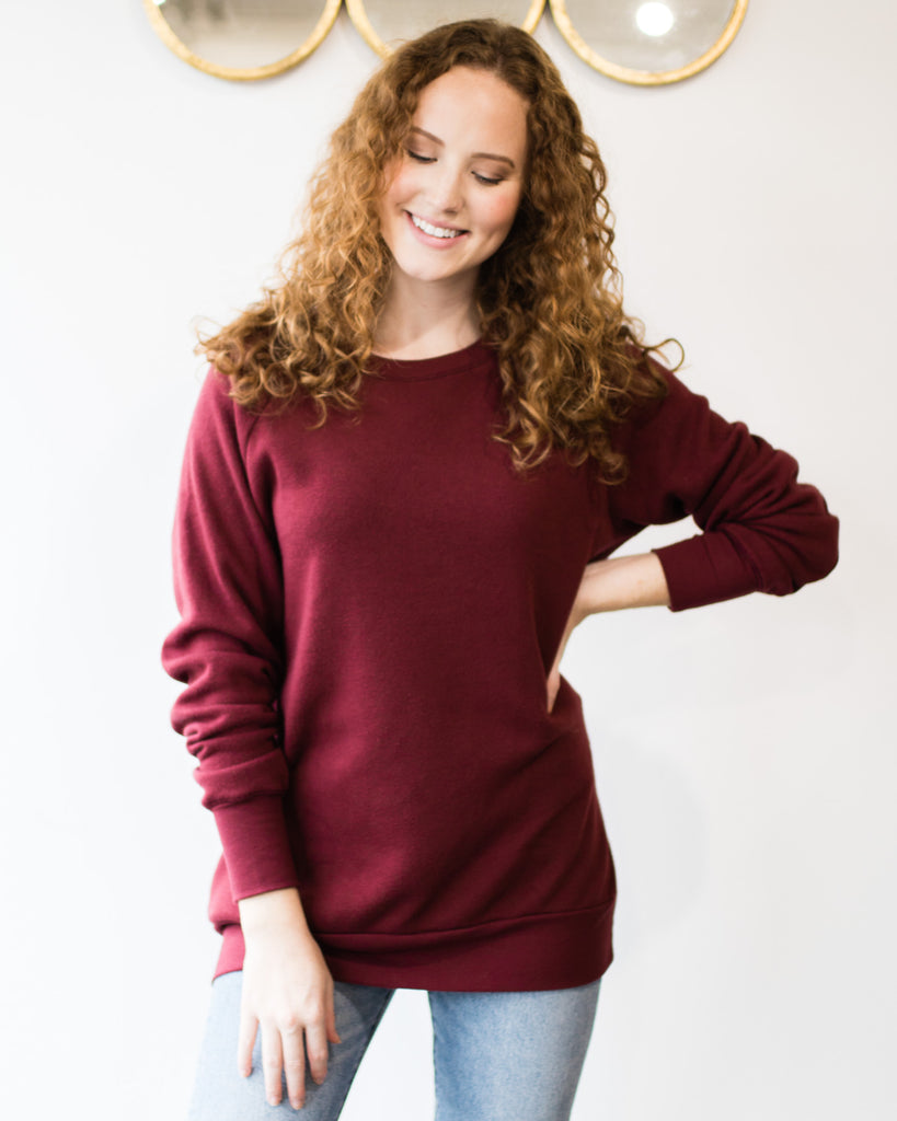 Fade Away Tunic Sweatshirt