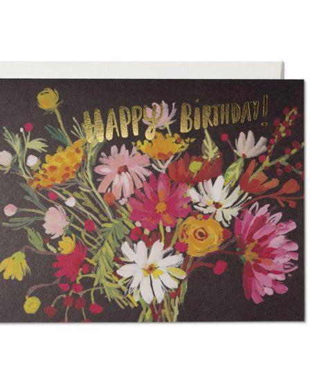 Red Cap Cards - Vintage Happy Birthday Bouquet