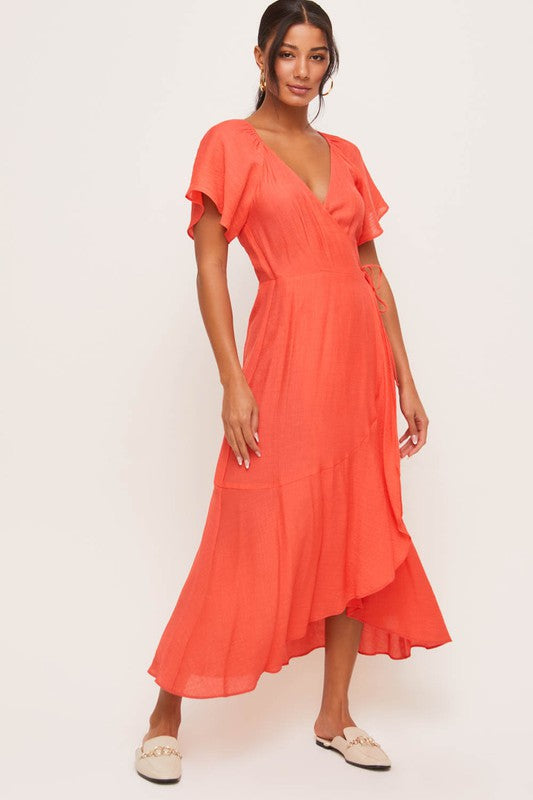 Love Potion Flutter Sleeve Maxi Dress