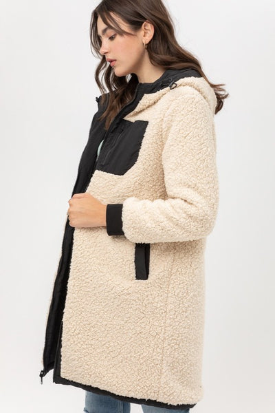 Sherpa Puffer Long Reversible Coat