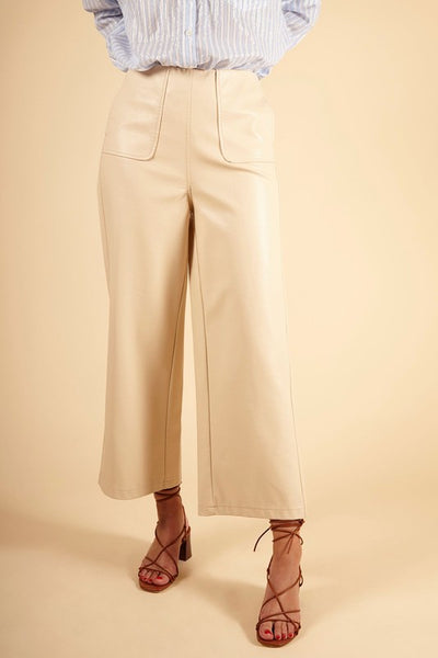 Pervin Faux Leather Pant