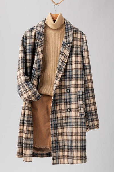 Flannel Plaid Long Coat