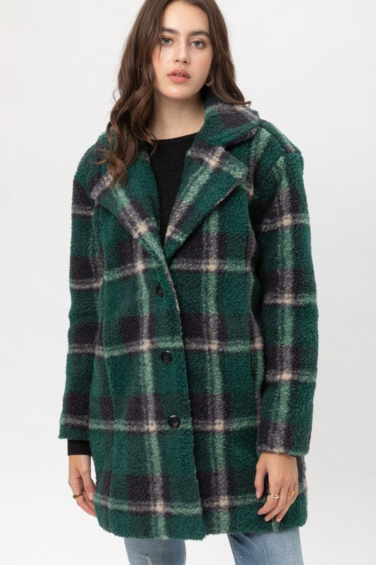 Soft Plaid Coat
