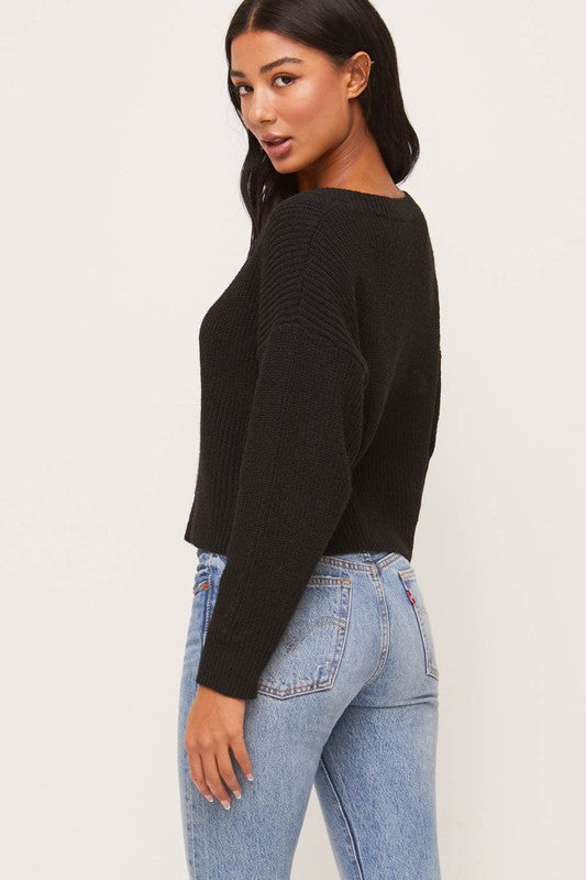 Square Neck Crop Sweater