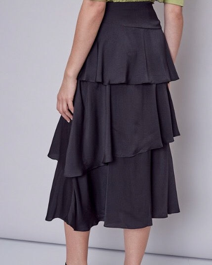 Ruffle Layer Maxi Skirt