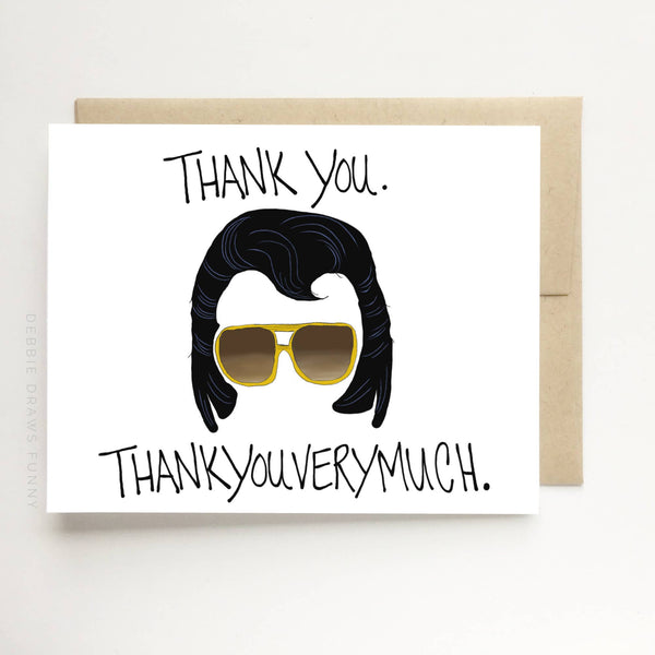 Thank You Thankyouverymuch Funny Thank You Card