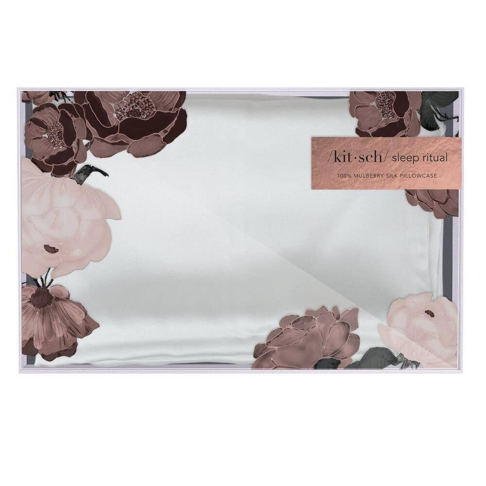 KITSCH - White Silk Pillowcase