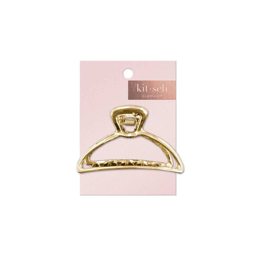 KITSCH - Round Gold Open Shape Claw Clip