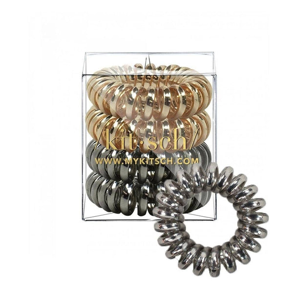 KITSCH - Metallic Hair Coils - Pack of 4