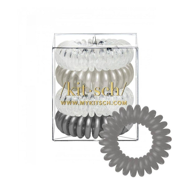 KITSCH - Charcoal Hair Coils - Pack of 4