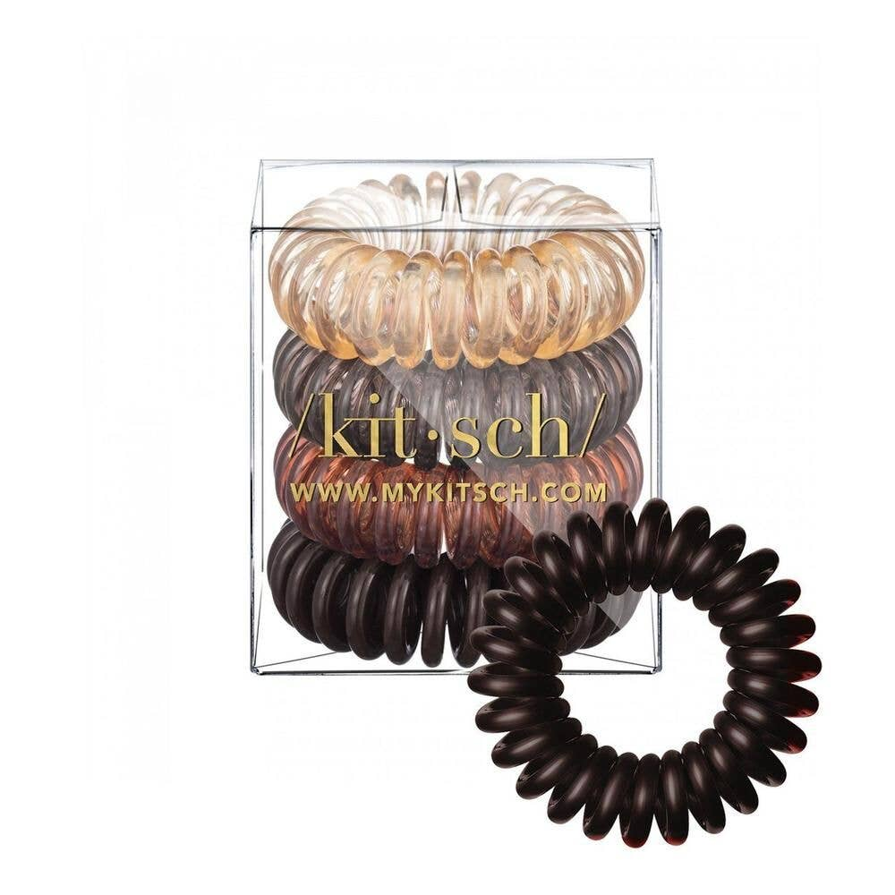 KITSCH - Brunette Hair Coils - Pack of 4