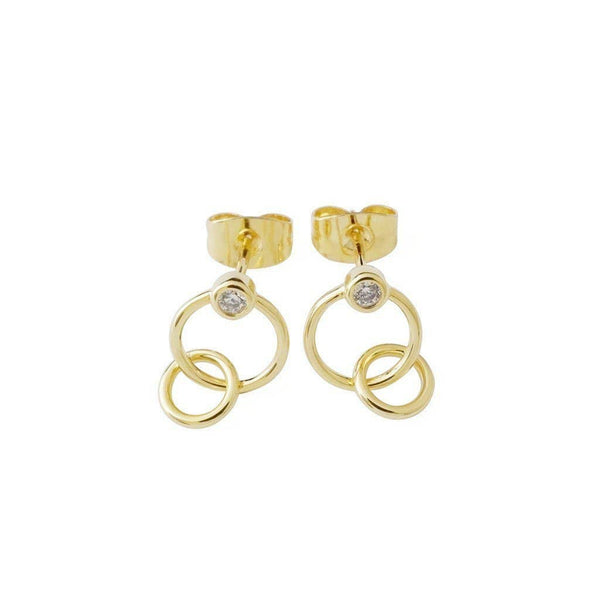 Honeycat Jewelry - Tansy Crystal Link Earrings